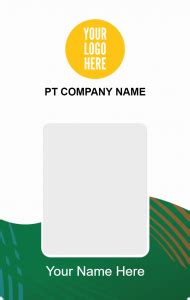 id card design hd id card simple company desain id card kemasaja