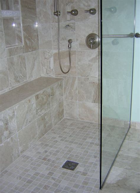 Small Bathroom Tile Ideas Pictures by Curbless Shower Our Bathroom Remodels Pinterest