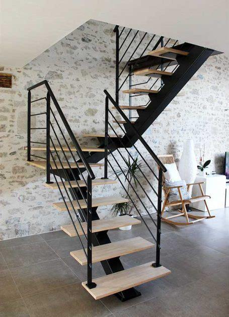 Escalier 2 4 Tournant by Escalier 2 4 Tournant M 233 Tal Et Bois Clair Vend 233 E Escaliers