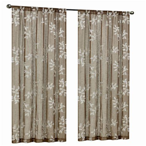 home decorators collection sheer sand rod pocket printed home decorators collection mocha leaf embroidery rod