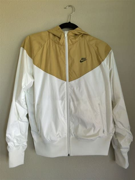 King Size Duvet Covers How To Make Nike Windrunner Womens Jacket Hoodie Rare White Gold Size M