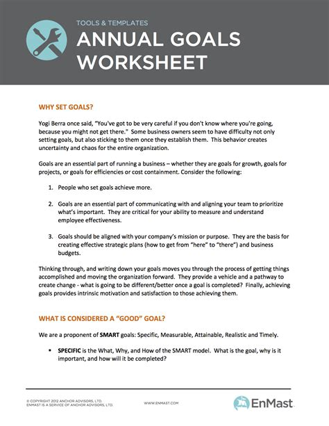 business goals and objectives template business goals worksheet virallyapp printables worksheets