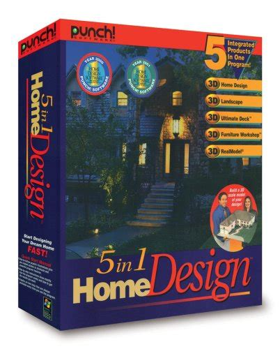 punch 5 in 1 home design cd rom for windows 664446241009 home design software punch 5 in 1 home design