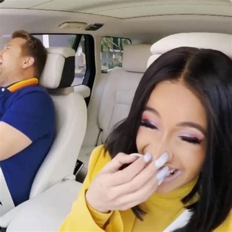 celebrity car karaoke migos james corden s horror as cardi b fails driving test