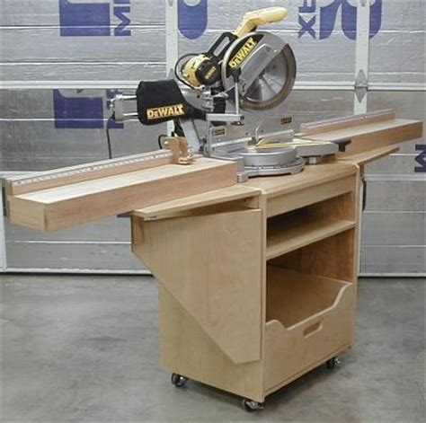 woodwork sliding compound miter saw stand plans plans pdf