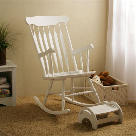 Nursery Chair And Stool by White Nursery Rocker Stool At Hayneedle