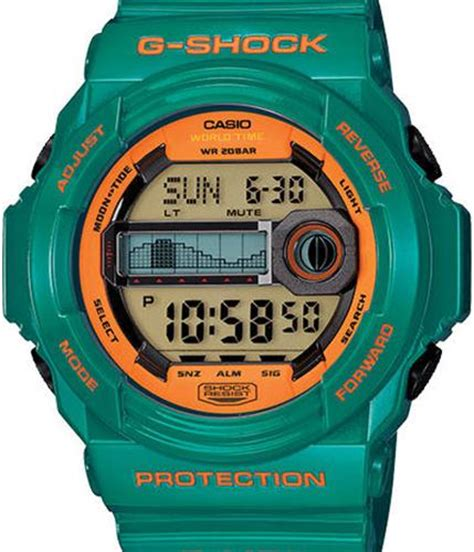 G Shock Glx 150 Green Grey Army g shock g lide green glx150b 3 casio g shock wrist