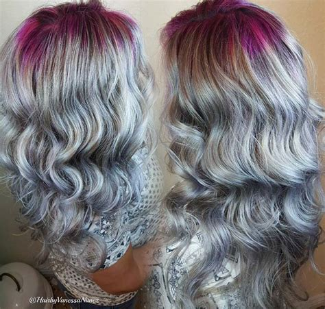 ideas for grey roots as a brunette brown hair colored tips brown hairs