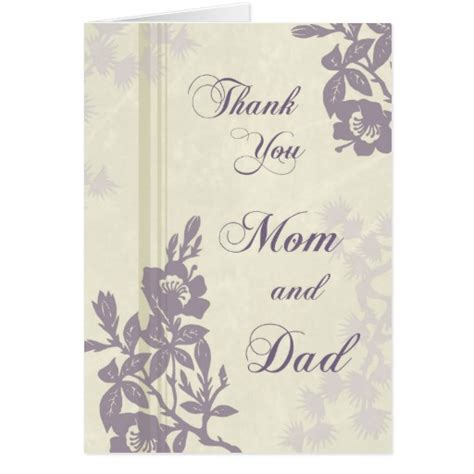 Thank You Card For Parents Wedding