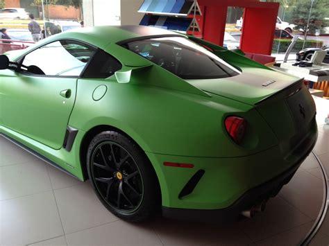 matte green maserati matte green ferrari 599 gto with 599xx parts