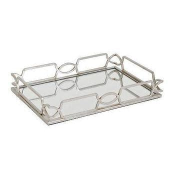 mirrored bathroom tray mirrored silver braided trays