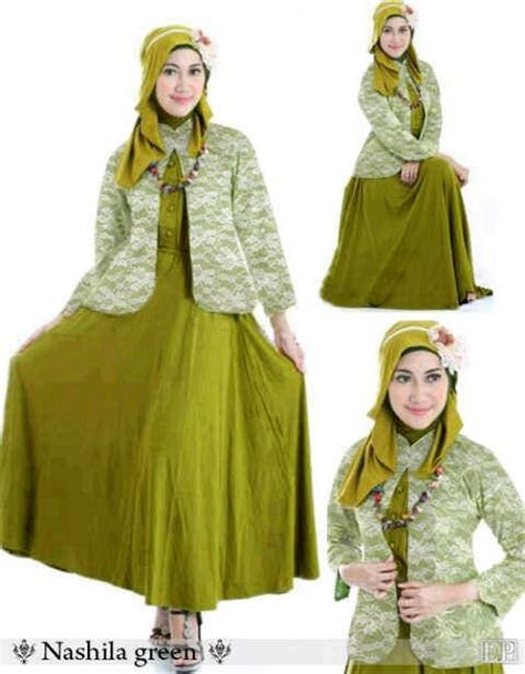 Gamis Overall Balotelli Maxi Dress Baju Muslim Murah Cewek blazers brokat and green on
