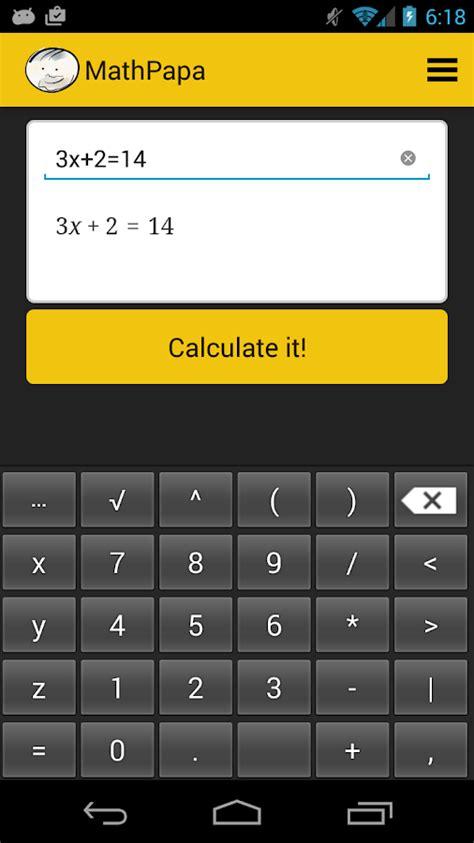 calculator online mod mathpapa algebra calculator android apps on google play
