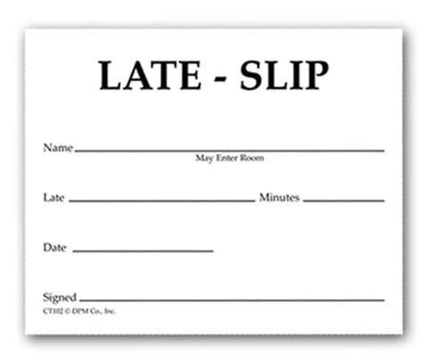 detention slip template printable the way we were slip