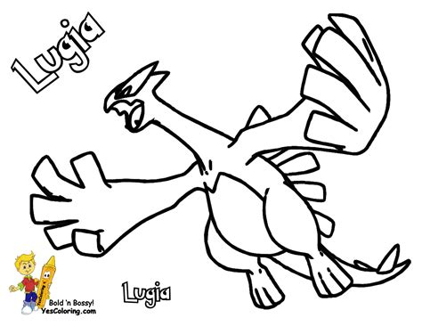 coloring pages lugia