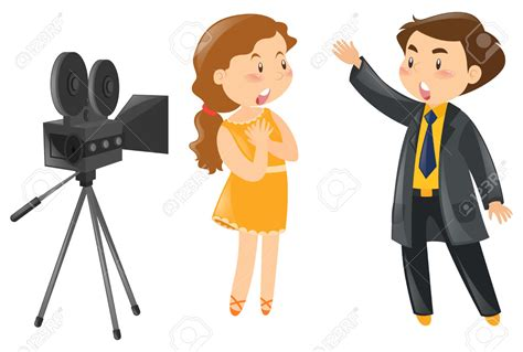 actor actress clip camera clipart actor pencil and in color camera clipart