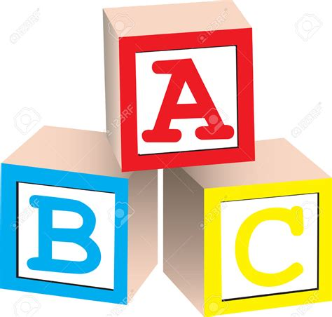 Letter Blocks Clipart