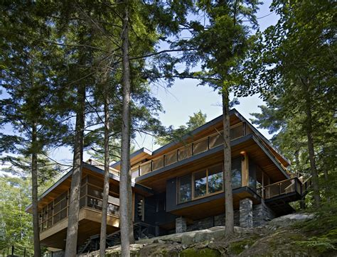 Cabin Home On The Hill by Modern Cabinet Forest House Lake Joseph Cottage By