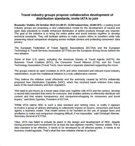 sle travel proposal template 12 free documents in pdf