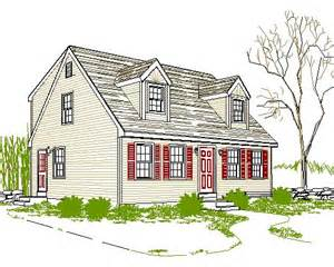 cape style house plans cad smith plans for rear dormer cape home