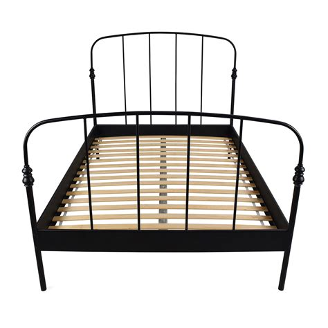 black full size bed frame 62 off ikea ikea svelvik full size black bed frame beds