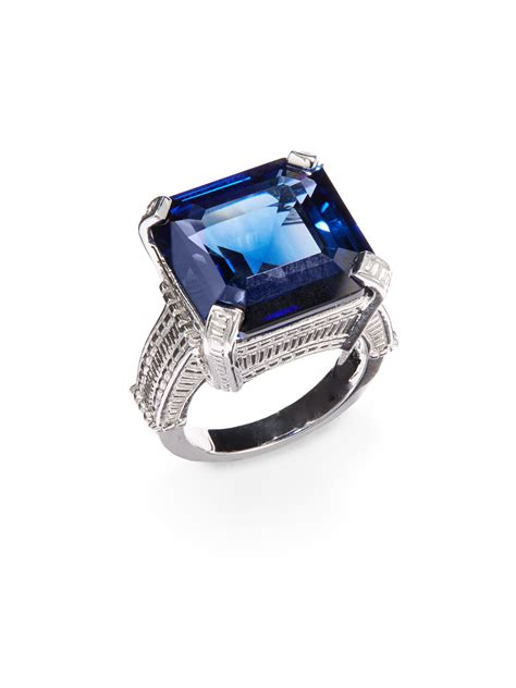 judith ripka blue sterling silver ring in blue lyst