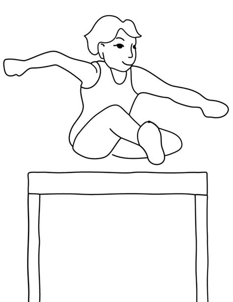 coloring book review track by track olympic track field runner hurdle in gymnastic coloring