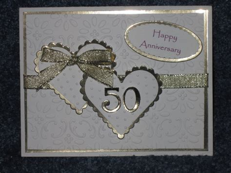 Handmade 50th Wedding Anniversary Cards - creative corner studio golden anniversary