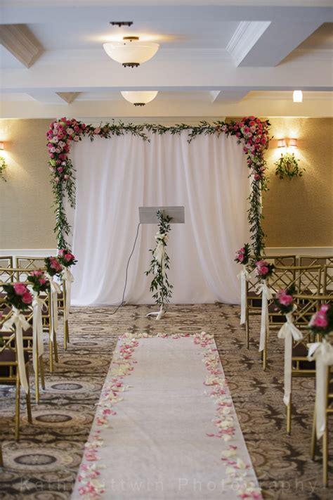 wedding vow backdrop simple wedding surrounding flowers
