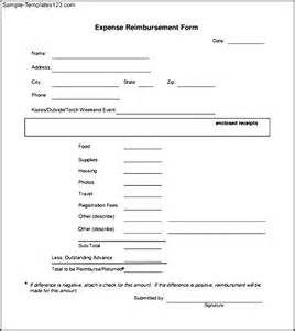 Reimbursement Forms Template by Free Pdf Expense Reimbursement Form Sle