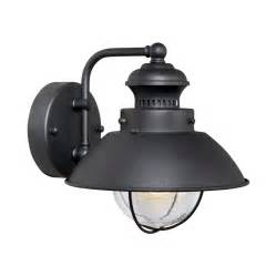 nautical wall lighting fixtures shop cascadia lighting nautical 8 in h textured black