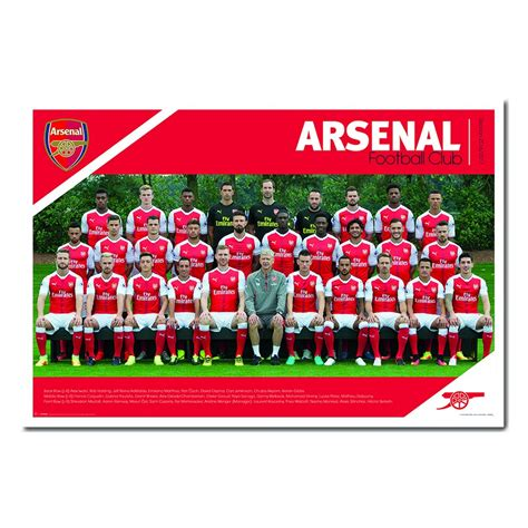 arsenal store arsenal fc team squad 2016 2017 poster iposters