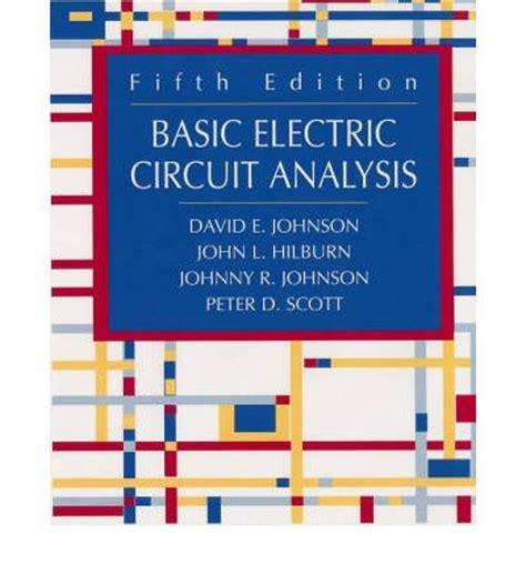 basic electric circuit analysis basic electric circuit analysis david e johnson l