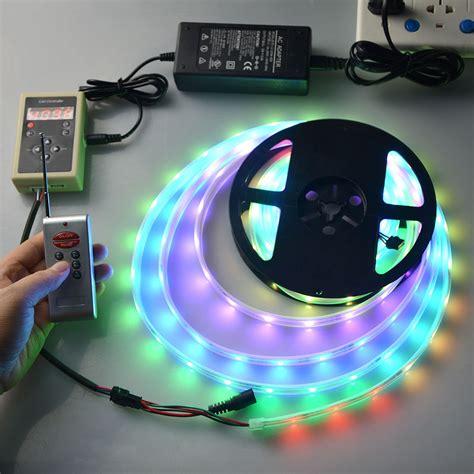 5m rgb led lights 5m smd5050 ic6803 rgb remote waterproof led