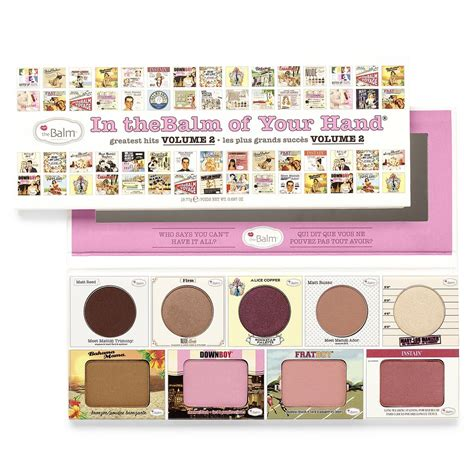 Murah The Balm In Thebalm Of Your Greatest Hits Volume 2 palette in thebalm of your volume 2 the balm