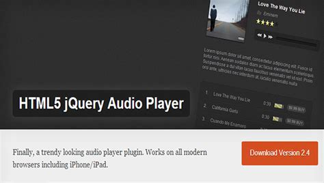 html5 player template top 20 audio player plugins wp template