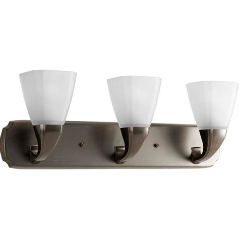 Progress Lighting Addison Collection 3 Light Venetian Venetian Bronze Bathroom Lighting
