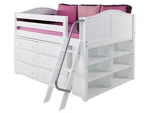Loft Bed No Ladder Low Size Bed