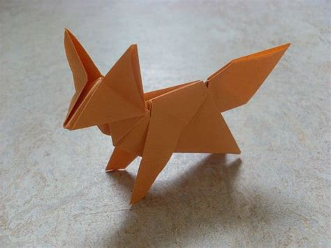3d origami fox tutorial fox peterpaul forcher origami foxes and craft