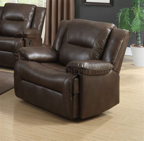 Romulus Motion Reclining Sofa 52815 In Espresso Leather Aire Motion Reclining Sofa