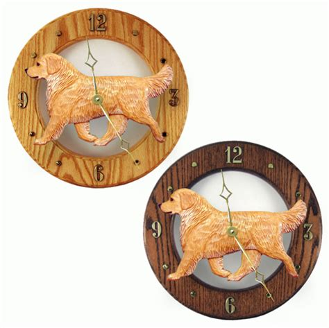 golden retriever color variations golden retriever wood wall clock plaque light