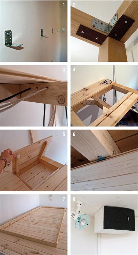 costruire una scrivania in legno soppalco fai da te in legno con scrivania annessa