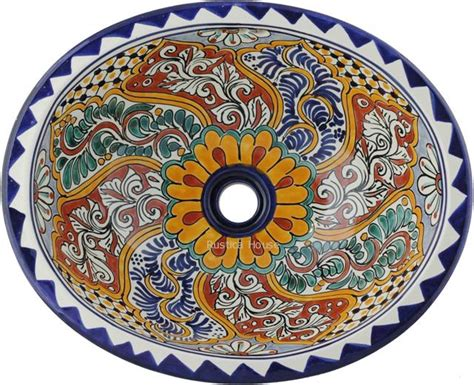 mexican bathroom sinks mexican painted talavera oval bathroom sink