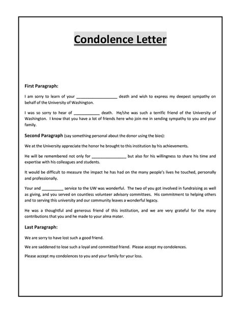 letter of 41 condolence sympathy letter sles template lab