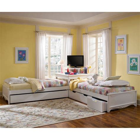 corner twin beds sets lea haley corner bed collection kids bedroom sets at