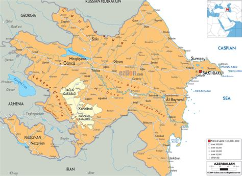 political map of azerbaijan nations online project detailed political map of azerbaijan ezilon maps
