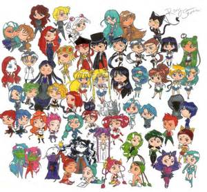 sailor moon chibi cast pokey57 deviantart