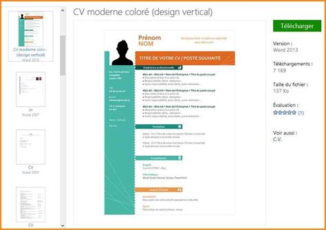 Exemple Cv Gratuit Word by Exemple Cv En Word Taper Un Cv Jaoloron