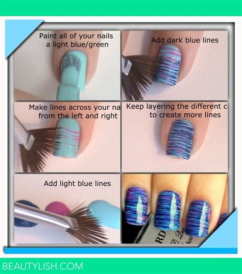 easy nail art with fan brush fan brush nails lucy j s photo beautylish