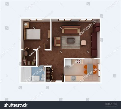 house design top view plan view of a house clear 3d interior design kitchen dining living bedroom wolk
